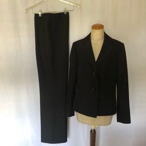 EVAN-PICONE Black Pinstripe Pantsuit